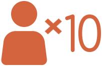 10 people
